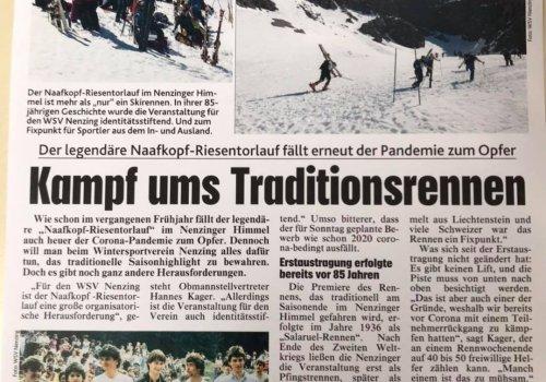 Der legendäre Naafkopf Riesentorlauf